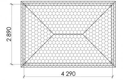 Беседка прямоугольная Т7 - 2,9х4,3 м