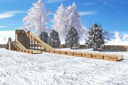 "Зимняя деревянная горка ""Арктика"" 4м"