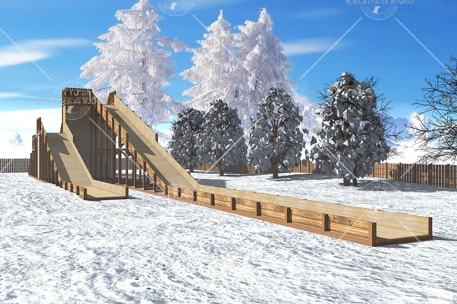 "Зимняя деревянная горка ""Арктика"" 5м"