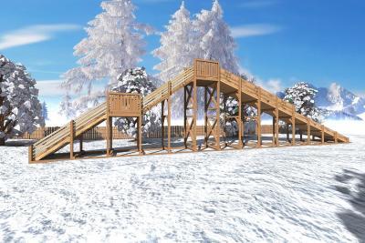 "Зимняя деревянная горка ""Ледяная фантазия"" 4м"
