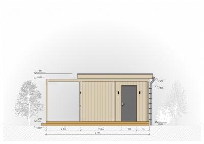 Мини дом с плоской крышей 40