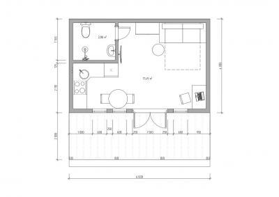 Мини дом с плоской крышей 35