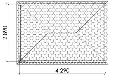 Беседка прямоугольная Т11 - 2,9х4,3 м