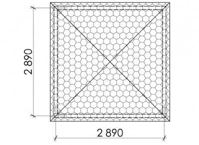 Беседка квадратная Т17 - 2,9х2,9 м